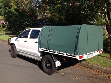 canvas ute covers HiLux