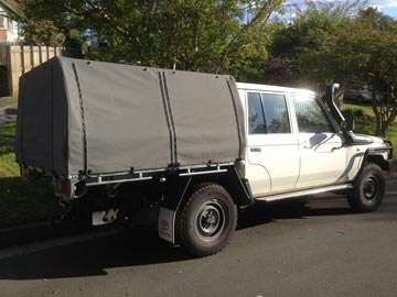 Dual Cab Cruiser Canvas Cover