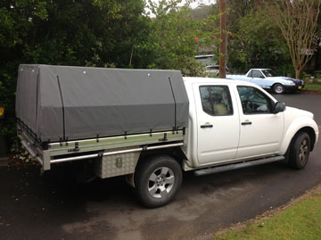 Full Canvas Ute Canopy Navara
