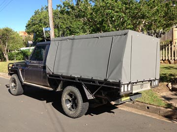 canvas ute covers LandCruiser