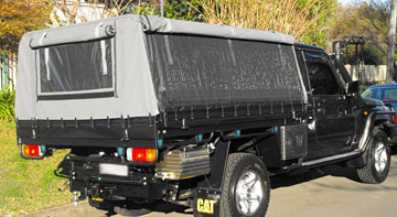 Canvas Canopies for utes - Landcruiser