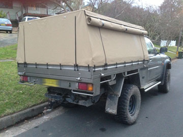 Full Canvas Ute Canopy Patrol