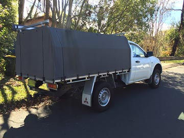 canvas ute covers Triton